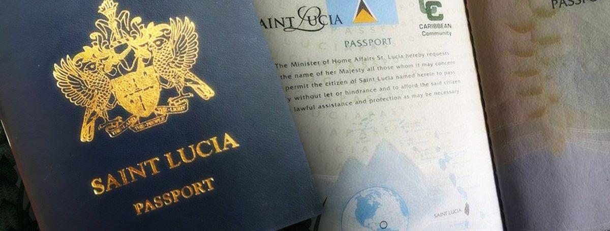 اخذ پاسپورت سنت لوسیا